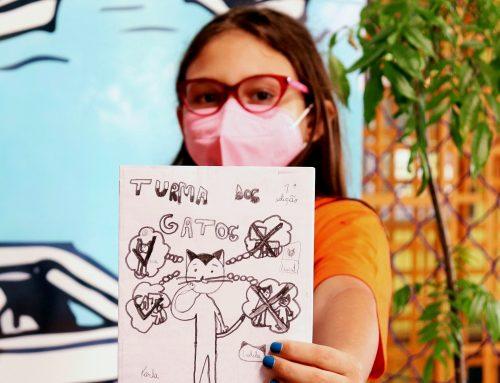 Criatividade e protagonismo: aluna do Ensino Fundamental cria revistas em quadrinhos